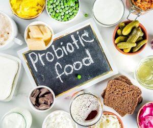 Makan Makanan Probiotik dan suplemen SteiSlim