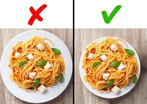 Pelat yang dipilih dengan benar — nasihat yang bagus untuk menurunkan berat badan